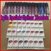 Дженнер LIP KIT Lipkit Velvetine Liquid Matte Lipstick Lipliner в красный бархат макияж блеск для губ карандаш для губ карандаш 28 цветов