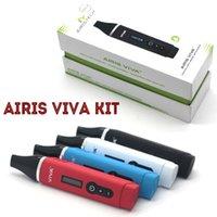 100% Original Airistech VIVA Dry Herb Vaporisateur OLED affichage numérique en céramique pleine Chambre Chauffage Avec 2200mAh Li-polymère batterie E Cigs