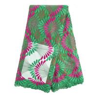 Cherry LadyA frican Lace Fabrics Nigerian Green Hot 2016 Wom...