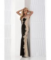 2016 Новый дизайн черный и золотой сексуальная Встроенная Embellished пол без рукавов длиной кружева длинные вечерние платья выпускного платья Бесплатная доставка