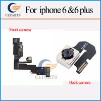 100% Pièces de rechange d'origine avant de la caméra avec câble flex arrière Retour Camera Lens pour iPhone 66 + Livraison gratuite
