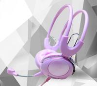 Listagem novos fones de ouvido roxo, bonito celular fones de ouvido voz de computador, atacado e varejo pode chamar fones de ouvido