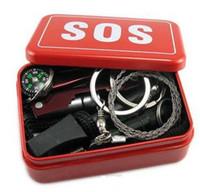 Portable SOS Trousse de survie en plein air Équipement auto-assistance Aid Box SOS Camping Randonnée 9.5 * 6.6 * 3cm