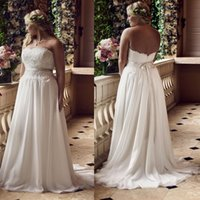 Custom Made Plus Size Wedding Dresses Strapless Backless Lac...