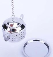 304 Stainless Steel Silvery Teapot Shape Tea Infuser Straine...