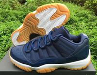 Discount JXI(11) NAVY GUM Low Retro Basketball Shoes Low Bre...