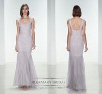 Charming Bridesmaid Dresses Amsale Sheer Satin Tulle Mermaid...