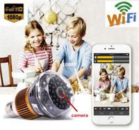 WIFI 1080P HD SPY DVR Caméra Cachée IR Night Vision Bulbe Caméra Vidéo