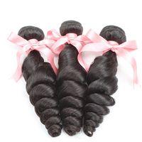 7A Loose Wave Hair Bundles Brazilian Remi Hair Extensions Ha...