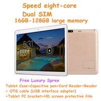 Le nouveau huit-cœur de 12 pouces Tablet PC Android tablette SIM appeler 2560 * 1600 HD IPS écran de navigation GPS WIFI + casque PC étui de protection
