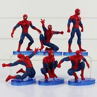 The Avengers Spider Man 6pcs set Spiderman action Figures PV...