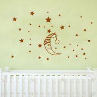 DIY Moon Stars Baby Vinyl Wall Stickers nursery Kids room de...