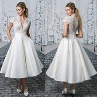Beaded Applique Prom Dresses V Neck Evening Gowns Short Slee...