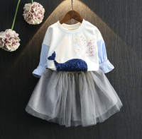 Autumn Girl Clothes Outfits Set Stripes Sleeve Whole Sequins...