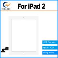 Écran tactile Numériseur de remplacement en verre pour iPad 2 ipad 2 écran tactile de panneau de numériseur Livraison gratuite de DHL