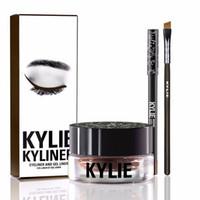 Kylie Gel Liner Sourcils Kit Kylie Jenner Kyliner In Black Avec Eyeliner Gel pot Brush (1 jeu = 1 eyeliner + 1 brosse + 1 crème) MR214