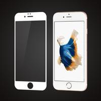 2pcs pour iPhone 6S / 6 6SPLUS 6Pus plein écran E2E HD Clear Premium 0,26mm verre trempé film protecteur d'écran
