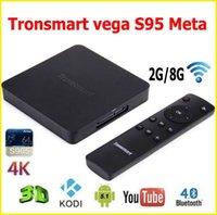 Оригинал Tronsmart Vega S95 Мета Amlogic S905 4K Android TV Box 2G 8G 2,4 5G Dual Band WIFI H.265 HDMI Miracast