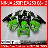 8gifts Factory green For KAWASAKI NINJA ZX 250R EX250 08- 12 ...