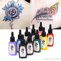 10 Colors lot Tattoo Ink Pigment Set Kits for Body Art Tatto...