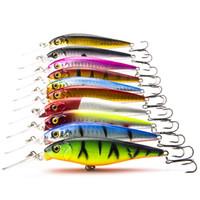 10шт / Lot Минноу 10г 11см рыболовную приманку Artficial Пластиковые воблер жесткие приманки с Sharp Крючки Fly Fishing Bait Карп рыболовные снасти