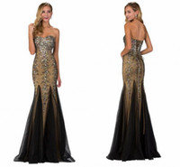 Luxury Crystals Long Prom Dresses Sweetheart Beaded Sequins ...