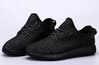 2017 Лучшие качества Оптовая Kanye West Milan Повысьте 350 Classic Black Gray 350 Мужская женщин Мода тренеров обуви Спортивная обувь