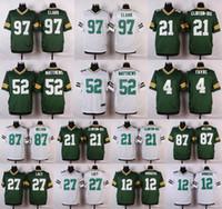 2016 Elite Mens Packers 87 Jordy Nelson 97 KENNY CLARK 52 Cl...