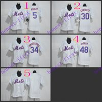 new york mets #5 david wright #30 michael conforto #34 noah ...