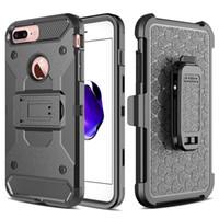 Для iPhone 7 Case СВЕРХМОЩНО 4 слоя Крышка с Kickstand клипсы протектор экрана Прочная броня Hybrid Shell для iPhone 6 плюс