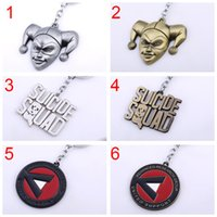 Movie Suicide Squad Keychain Letter Logo Metal Alloy Key Hol...