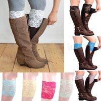 Women Lace Boot Cuffs Flower Leg Warmer Stretch Trim Toppers...