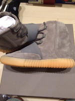 "2016 New Arrival Kanye West 750 Boost "" Light Grey &quot..."