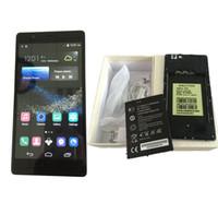 Android 6.0 Huawei P8 плюс клон телефона 6 дюймов MTK6572 Двухъядерный смартфон сотовые телефоны Dual Sim 512 RAM 4GB ROM шоу 32GB Поддельные GPS 4G LTE