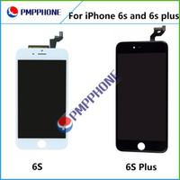 Noir Ecran LCD blanc tactile Digitizer écran complet avec remplacement Frame Assemblée complète pour iPhone 6S 4.7 6SP 5.5 EXPÉDITION rapide