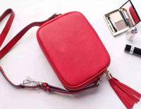 red G Soho Leather Disco Bag soft cowhide 308364 Tassel BAG ...