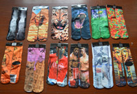 Sports Chaussettes 3D Printed Socks Adulte Hommes Femmes 3D Unisexe Stocking Soft Cotton Basketball Football chaussettes 150pair = 300pcs