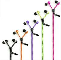 Haute qualité casque stéréo basse dans l'oreille métal zipper écouteurs écouteurs avec micro 3,5 mm MP3 pour la livraison gratuite