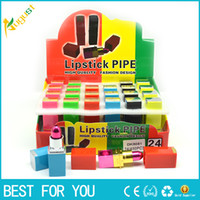 Hot Sale 1pc Multi- color Portable Smoking Lipstick Pipes Met...