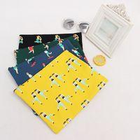 Sport Theme Canvas Fabric Clutch Bag Purse Handbag File Pock...
