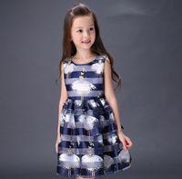 2016 Elegant Girls Summer Dress Wide Stripes Dancing Angel P...