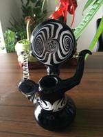 EN STOCK blanc et mini tube de verre en verre noir barboteur fumer eau poignée de tuyau en verre bong livraison gratuite