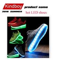2016 Top qualité LED chaussures lumineuses Kanye West mens avec le paragraphe de noix de coco chaussures de sport pour les chaussures de course unisexe gros Souliers libre DHL