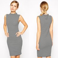 2016 Cheap discount. Casual dresses for women. Navy style, stan...