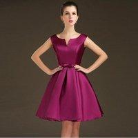 Short Bridesmaid Dresses 2016 New Fashion V- Neck Formal Dres...
