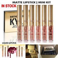 NEW Gold Дженнер блеск для губ Косметика матовая помада Блеск для губ Mini Leo Kit для губ День рождения Limited Edition с золотой розничной упаковке