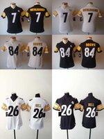 2016 Women Steelers Jerseys #84 Antonio Brown 26 Le' Veo...