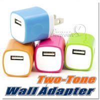 Adaptateur universel de chargeur de voyage de mur de la puissance universelle de deux tonalités d'USB pour l'iPhone 6 6 PLUS / 5 5S 5C / 4 4S Samsung HTC avec la conception facile de dispositif de bordure