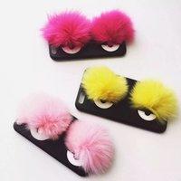 Newest Little Devil 3D Capsule Fur Eyes Monsters Case for ip...