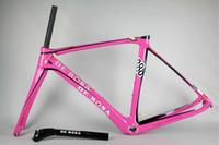 Cute Pink De Rosa Super King 888 Carbon Bike Frame Full Carb...